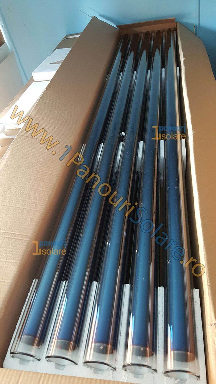 Pachet 10 tuburi vidate de rezerva pentru panouri solare nepresurizate - de 58mm si 1800 mm
