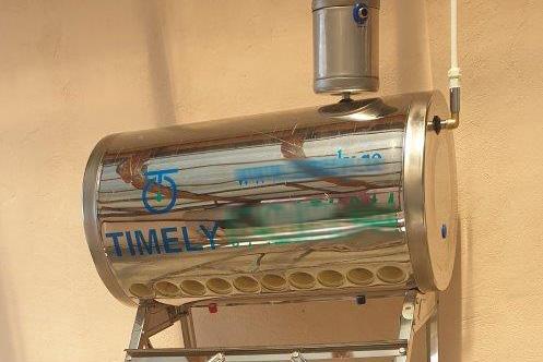 Kit Panou Solar apa calda Nepresurizat INOX 100 litri, TIMELY - cu vas flotor