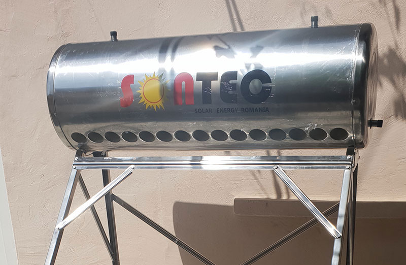 Kit Panou Solar Nepresurizat 120 litri, 12 tuburi, INOX, Sontec - cu vas flotor