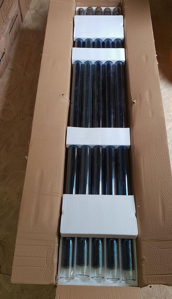 Pachet 20 tuburi vidate pentru panouri solare nepresurizate de 47 mm si lungime de 1500 mm