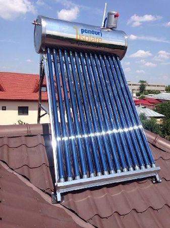 Pachet complet: Panou solar nepresurizat 1ENERGY, 150 litri, cu vas flotor + Pompa de ridicare a presiunii apei calde